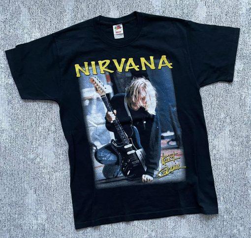 vintage Nirvana Kurt Cobain T shirt Happy Birthday