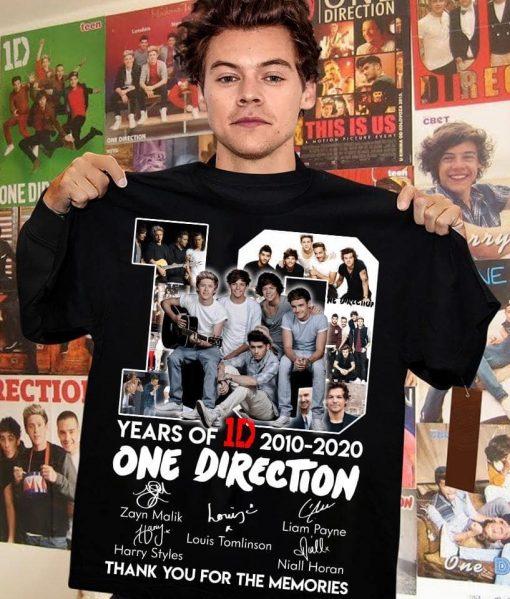 10 Years of One direction 2010 2020 shirt, hoodie T-shirt
