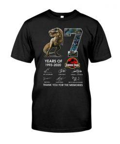 27 years of Jurassic Park 1993 2020 Shirt T-shirt