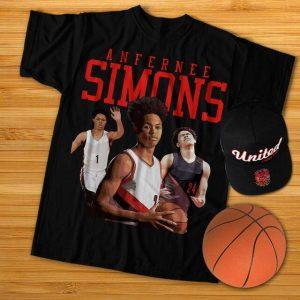 Clothing Anfernee 1 Shooting Guard Simons Portland Basketball T shirt min