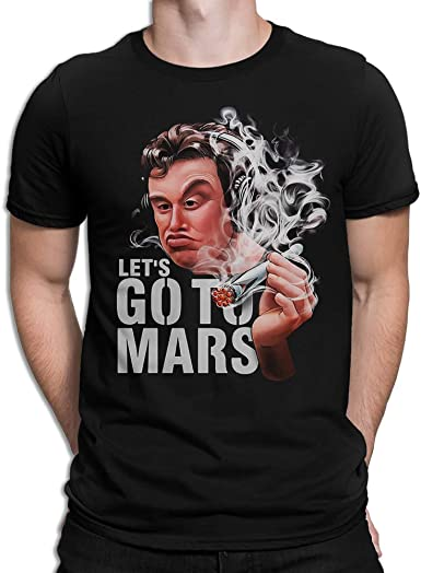 Elon Musk Smoking Lets Go to Mars T shirt