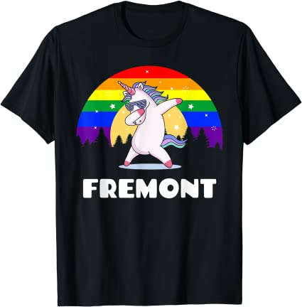 Fremont California LGBTQ Gay Pride Rainbow T Shirt