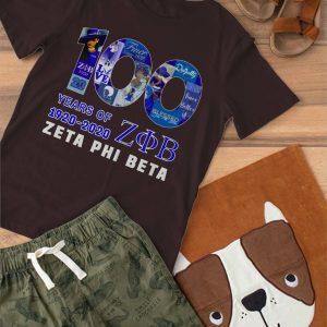 100 Years Of Zeta Phi Beta 1920 2020 Shirt min