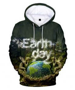 Earth Day 3D Hoodies Men Women Spring Autumn Winter New Arrivals  Casual Hooded