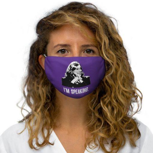 Kamala Harris Im Speaking Snug Fit Polyester Face Mask