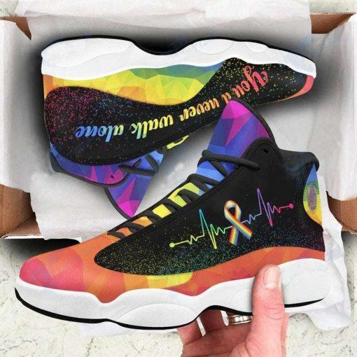 Lgbt Youll Never Walk Alone Air Jodan 13 Sneakers