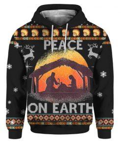 Nativity Jesus Peace On Earth 3D Hoodie