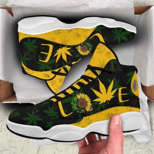 Weed Sunflower Air Jordan 13 Sneakers