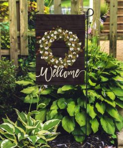 Welcome Farmhouse Cottonwood Wreath Rustic Mom Gift Home