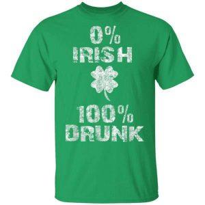 0 Irish 100 Drunk Shamrock St. Patricks Day Shirt