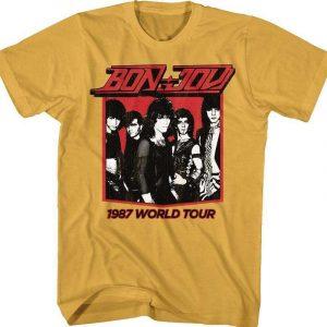1987 World Tour Bon Jovi Classic T Shirt