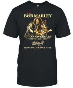 2021 Bob Marley 40th anniversary T Shirt S 6XL