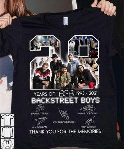 28 years of BSB 1993 2021 Backstreet Boys T-Shirt