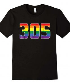305 Area Miami Gay Pride Lgbt Rainbow T-Shirt