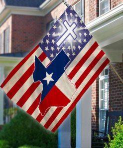 Veteran American Texas Cross American House Garden Flag