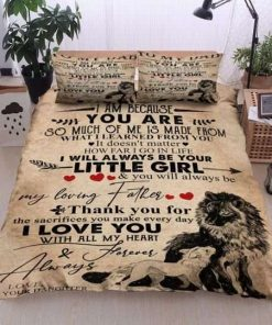 Father To My Dad Wolf To My Dad Love Your Daughter Bedding Set