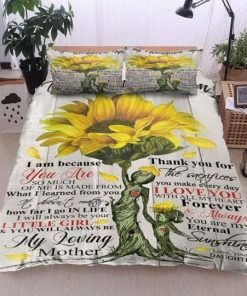 Father To My Family Sunflower To My Wonderful Bedding Sets
