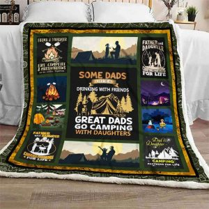 Gift For Dad Dad And Daughter Some Dad Like Blanket