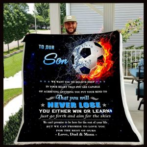 Gift For Dad Dad And Mom To Son That You Will Never Lose Blanket