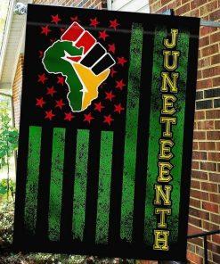 Juneteenth African American Garden Flag