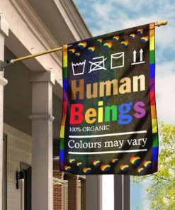 LGBT Human Beings 100 Organic Colours May Vary Flag Garden Flag
