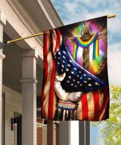 LGBT Pride Christian Cross Flag Garden Flag