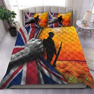 Lest We Forget US Veteran Flower Bedding set