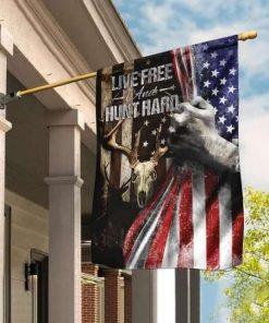 Live Free Hunt Hard Flag Garden Flag