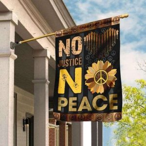 No Justice No Peace Flag Garden Flag Double Sided House Flag