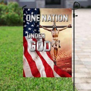 One Nation Under God Flag Garden Flag Double Sided House Flag
