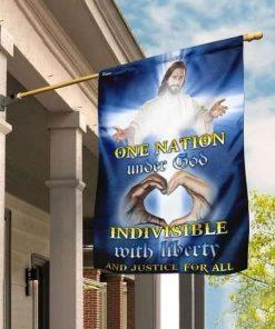 One Nation Under God Jesus Christ Flag Garden Flag Double Sided House Flag