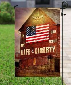 Life Liberty Peace Hippie Vans Flag Garden Flag