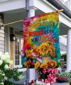 Jesus Sunflower House Garden Flag