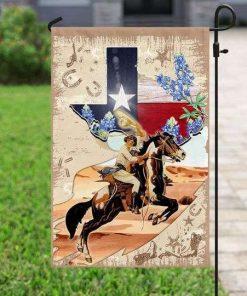 Texas Horseback Riding Flag Garden Flag
