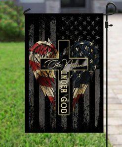 Veteran The US American Under God House Garden Flag