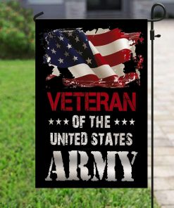 Veteran The US American United Sates Army House Garden Flag