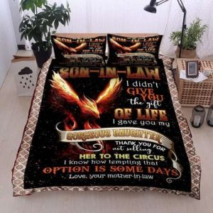 To My Dear Son In Law Gorgeous Daughter Her To The Circus Bedding Sets