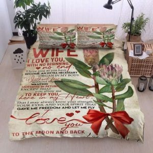 To My Family Protea Flower To My Wife Bedding Sets
