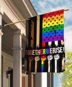 LGBT Together We Rise Flag Garden Flag