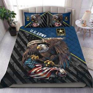 US Army Veteran These Color Dont Run Bedding Set