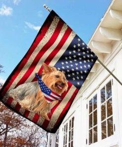 Us Flag Yorkshire Terrier Dog Flag Garden Flag