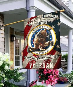 Veteran Air Force It Cannot Be Inherited House Garden Flag