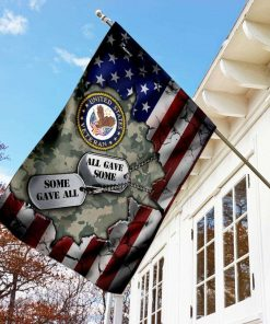 Veteran All Gave Some Gave All Double Dogtag Garden Flag