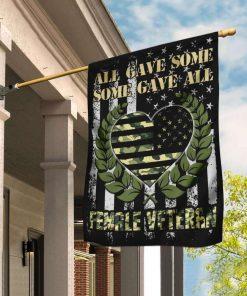 Veteran All Gave Some Gave All Female Veteran Garden Flag