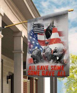 Veteran All Gave Some Gave All Head Down Garden Flag