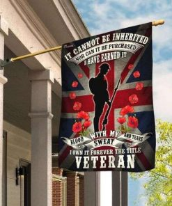 Veteran Remembrance Day Poppy Union Jack Garden Flag