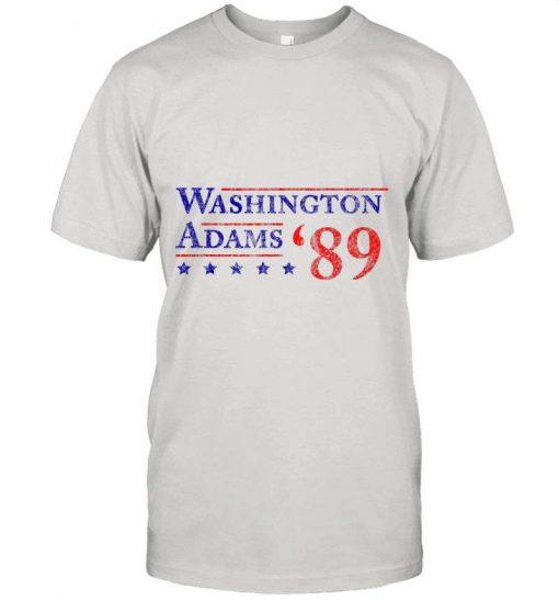 4th Of July Gift Washington Adams 1789 Vintage Election T-Shirt