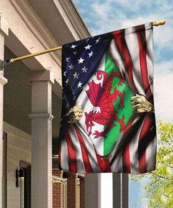 Welsh American Garden Flag