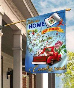 Virginia Take Me Home Country Roads Garden Flag