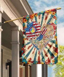 Whisper Words Of Wisdom Let It Be Hippie Garden Flag